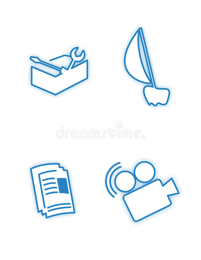 Character Blue Icons Royalty Free Stock Photo