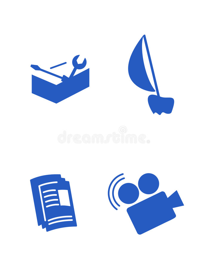 Download Character blue icons stock illustration. Image of build - 5597898