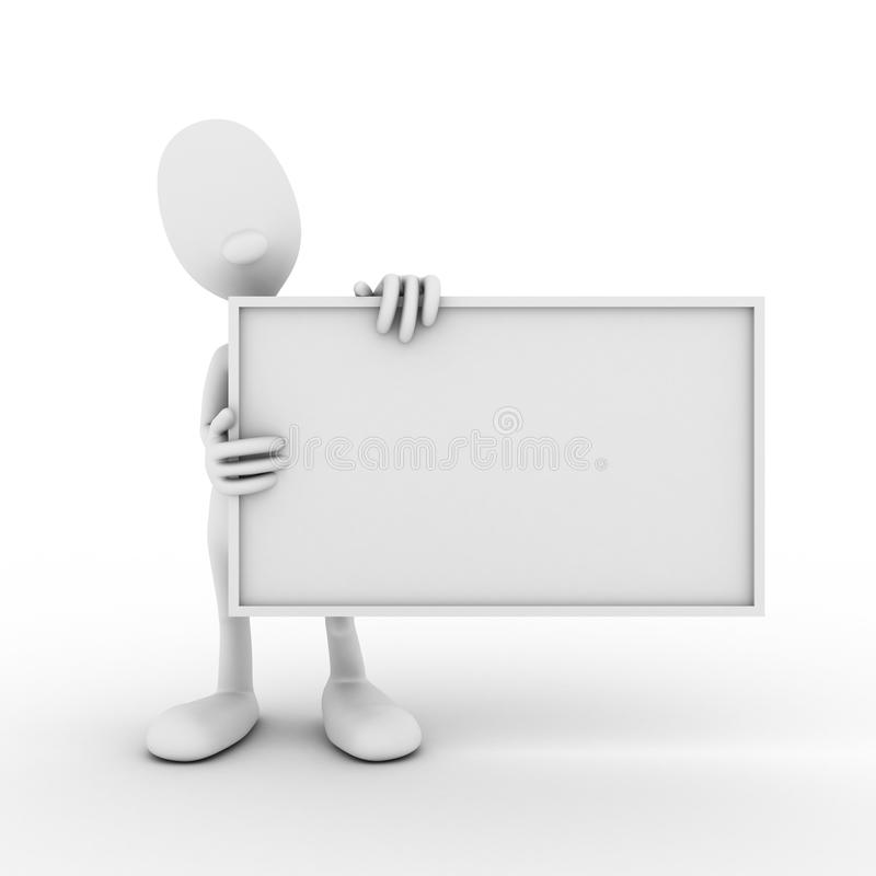 Character with a clean slate stock photos