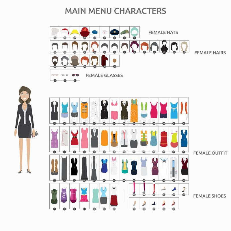 Character Creation Accountant vector illustration