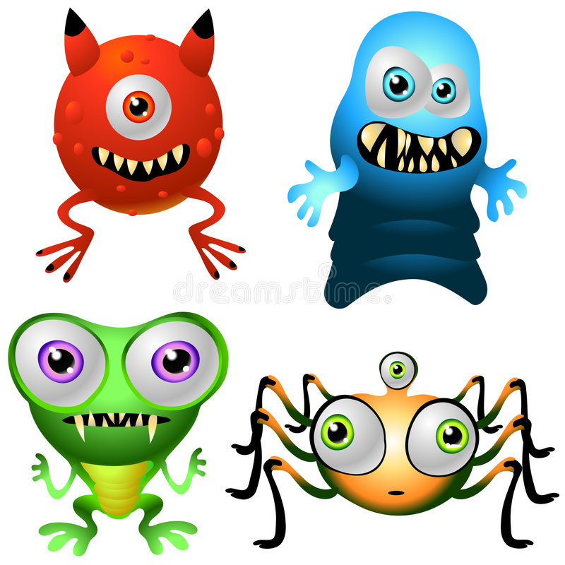 Character Design Collection 013: Baby Monsters vector illustration