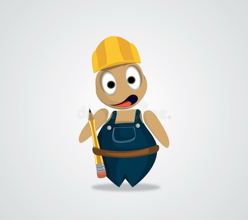 Character design engineer stock photo