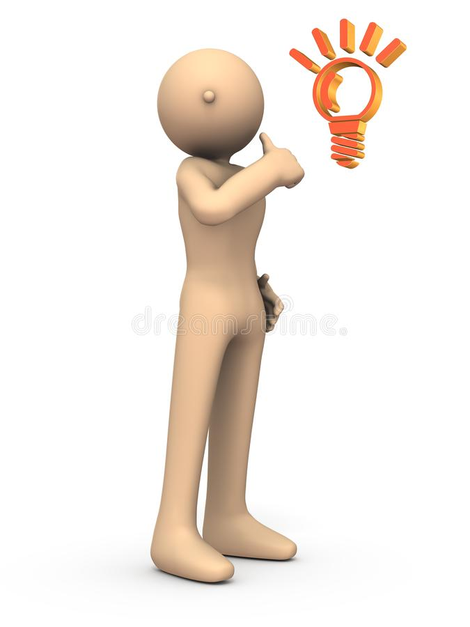 The character is doing a thumbs up. White background. 3D illustration vector illustration