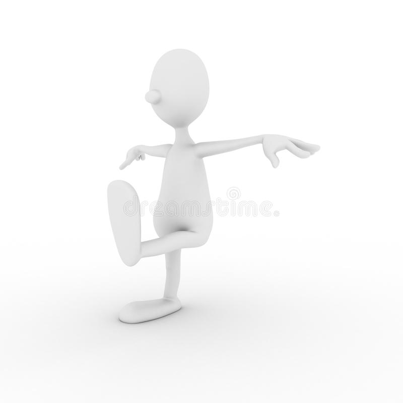 Character is engaged in gymnastics Wushu stock image