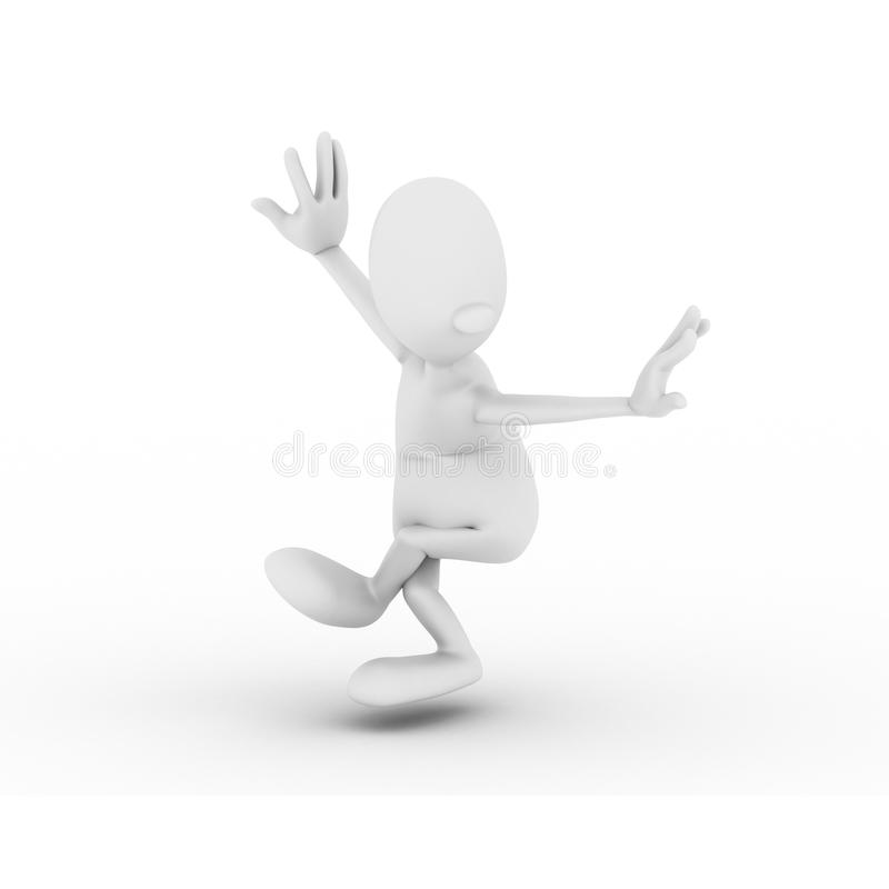 Character is engaged in gymnastics Wushu royalty free stock images