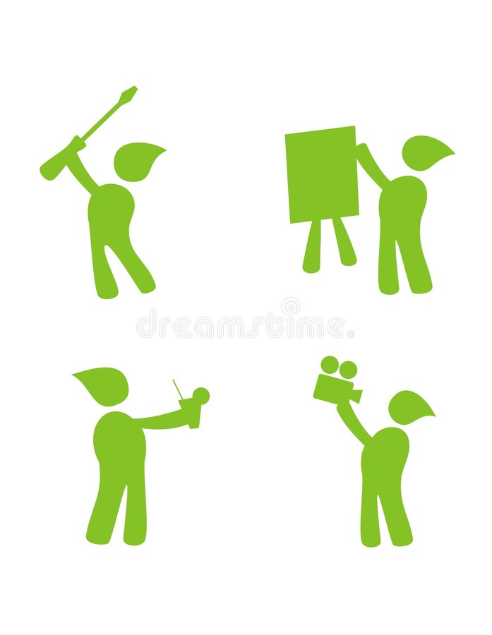 Download Character green icons stock illustration. Image of corporation - 5597791