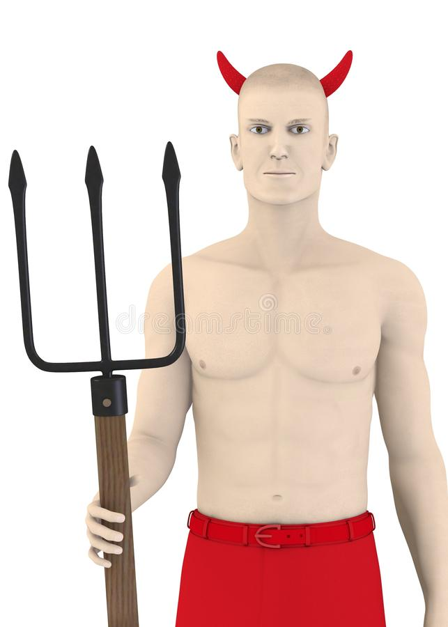 Character with horns and pitchfork - devil2