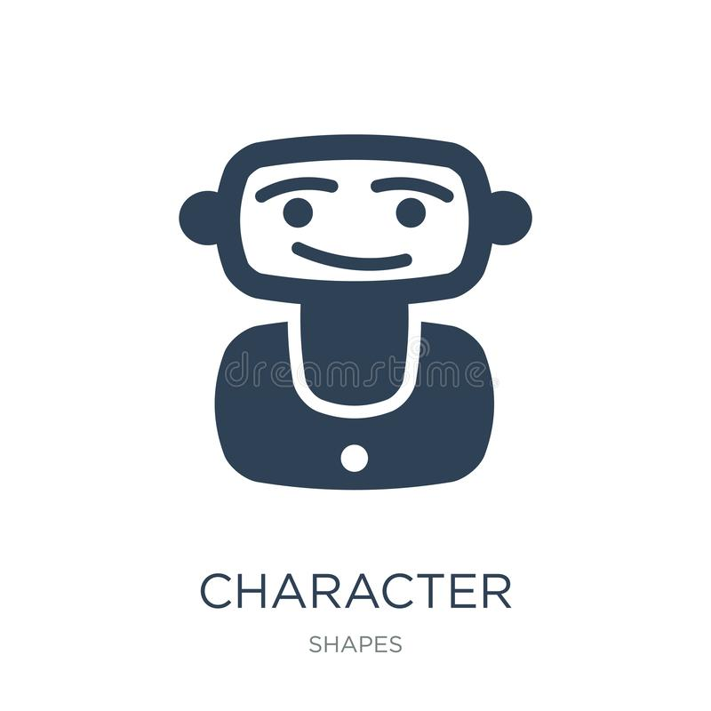 Character icon in trendy design style. character icon isolated on white background. character vector icon simple and modern flat. Symbol for web site, mobile vector illustration