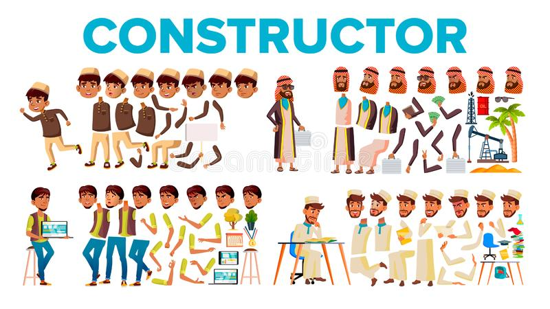 Character Male Constructor Body Detail Set Vector vector illustration