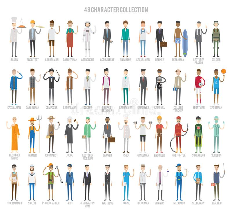Character Set Design royalty free illustration