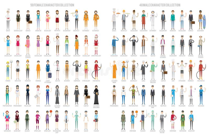 Character Set Design vector illustration