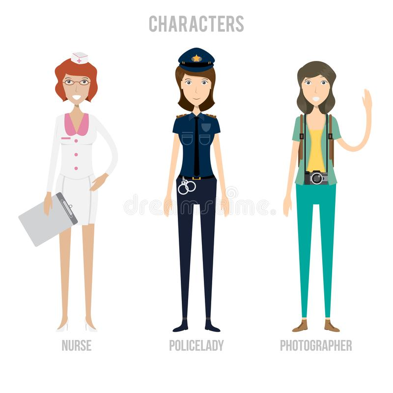 Character Set Include Fitnesslady, Firefighter And Flight