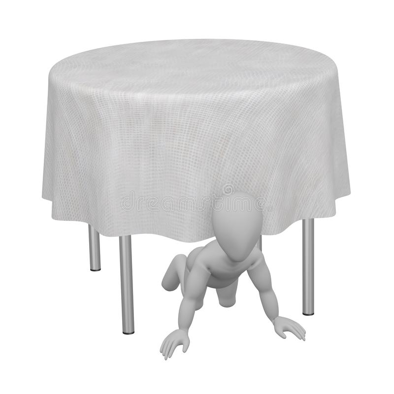 Download Character With Table And Tablecloth 14 Stock Illustration - Image: 24912615