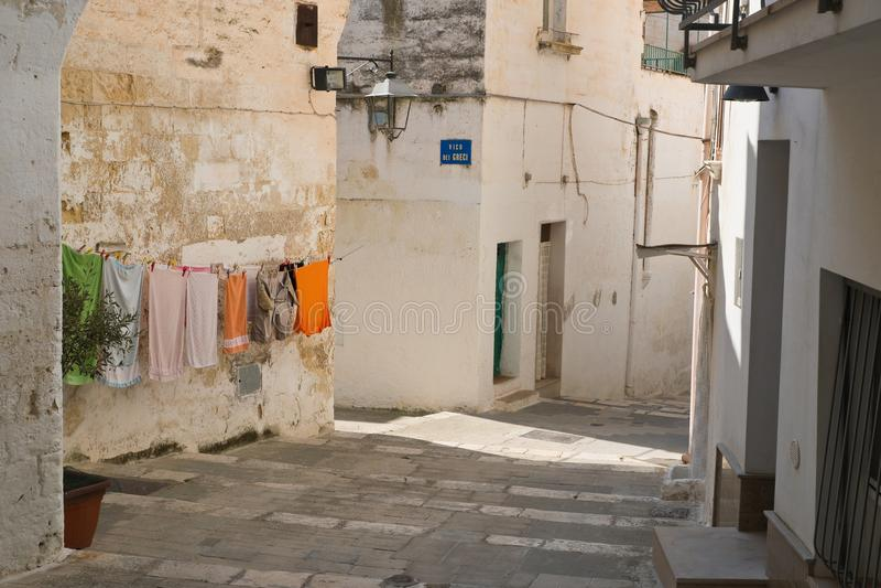 Alleyway. Castellaneta. Puglia. Italy. Characteristic alleyway of Castellaneta. Puglia. Southern Italy royalty free stock image