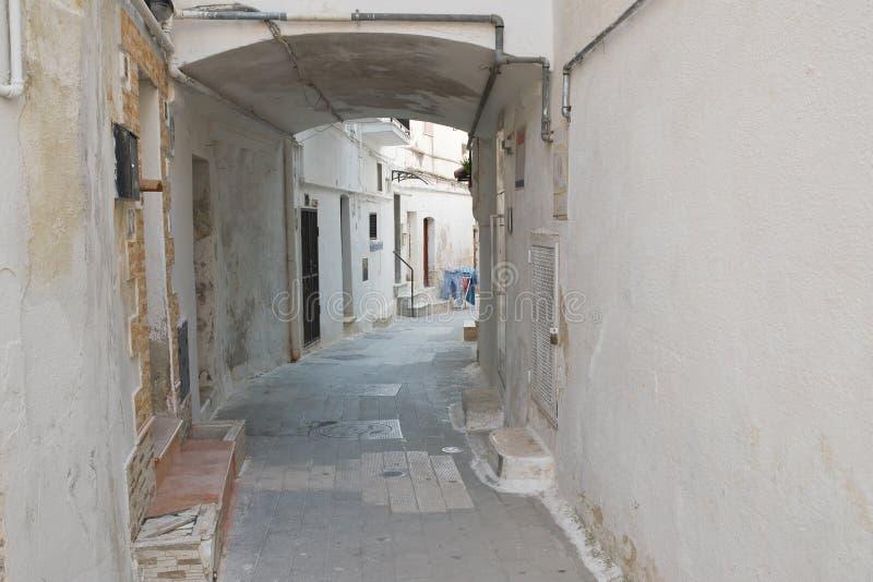Alleyway. Castellaneta. Puglia. Italy. Characteristic alleyway of Castellaneta. Puglia. Southern Italy royalty free stock photography