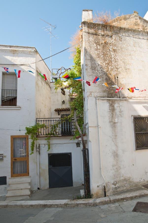 Alleyway. Castellaneta. Puglia. Italy. Characteristic alleyway of Castellaneta. Puglia. Southern Italy royalty free stock images