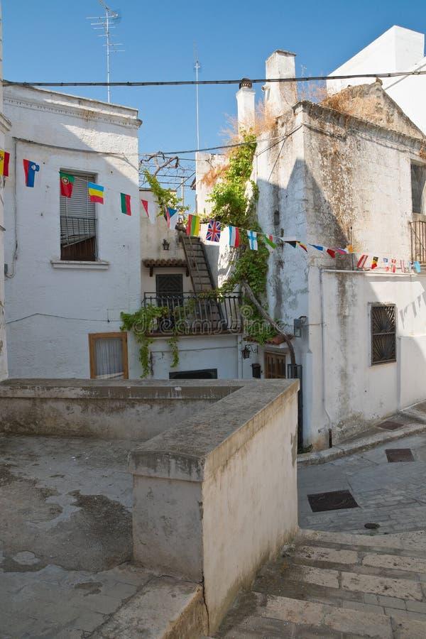 Alleyway. Castellaneta. Puglia. Italy. Characteristic alleyway of Castellaneta. Puglia. Southern Italy stock image