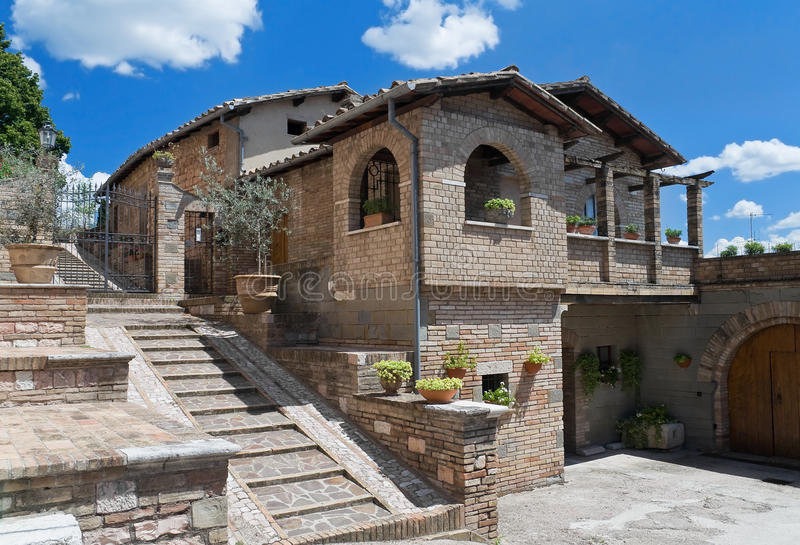 Download Characteristic House. Spello. Umbria. Stock Photo - Image: 15681858