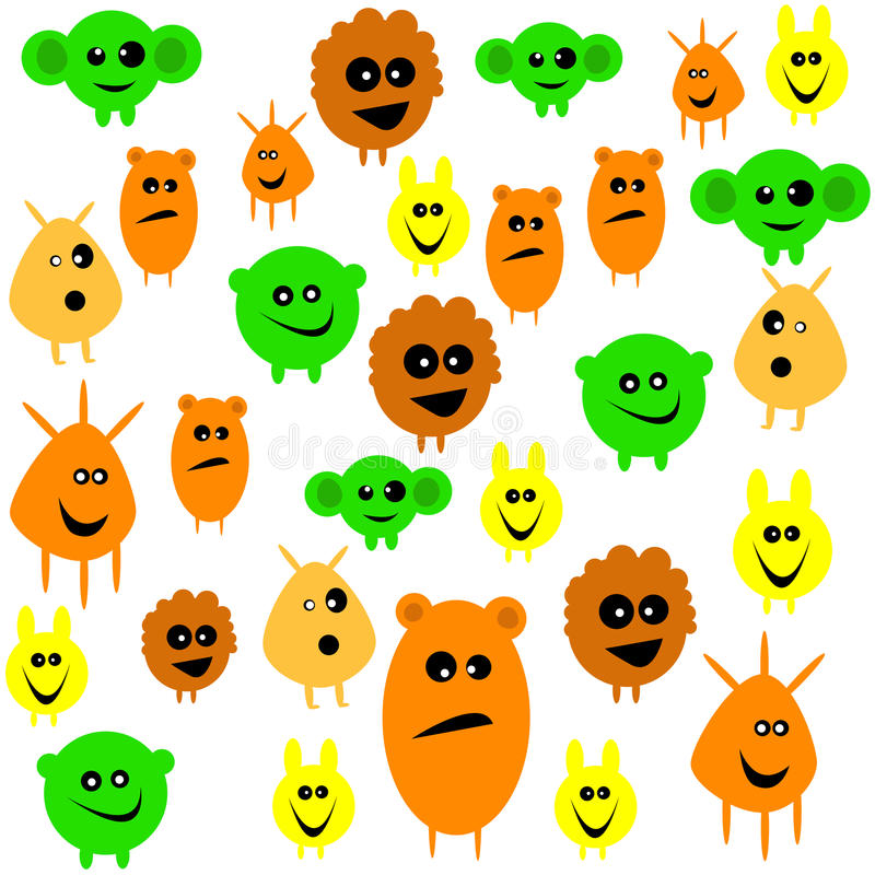 Download Characters stock image. Image of orange, abstract, eyes - 29490623
