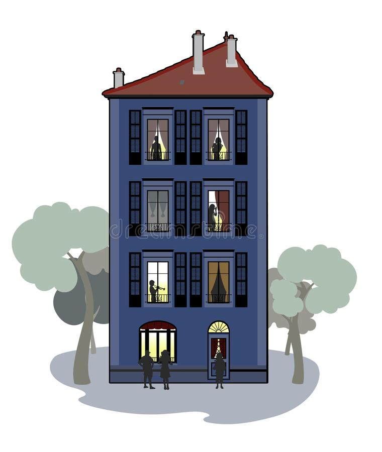 Characters in the building stock illustration
