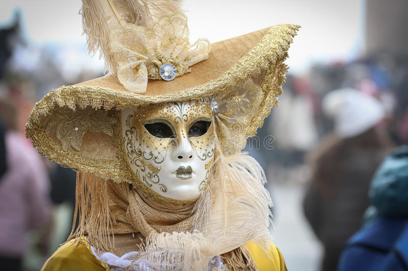 Characters of Venice Carnival stock images