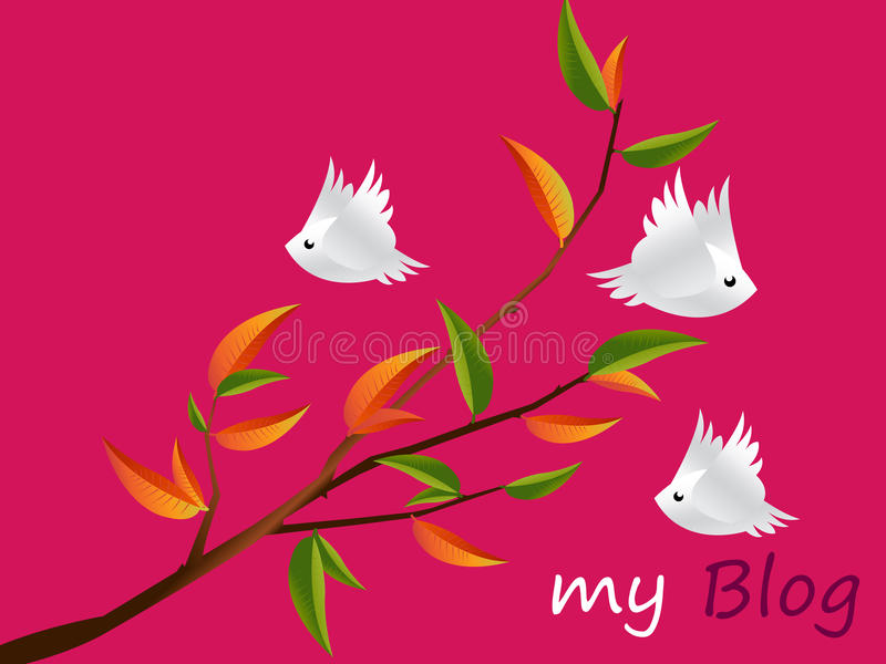 charakterów lovebirds royalty ilustracja