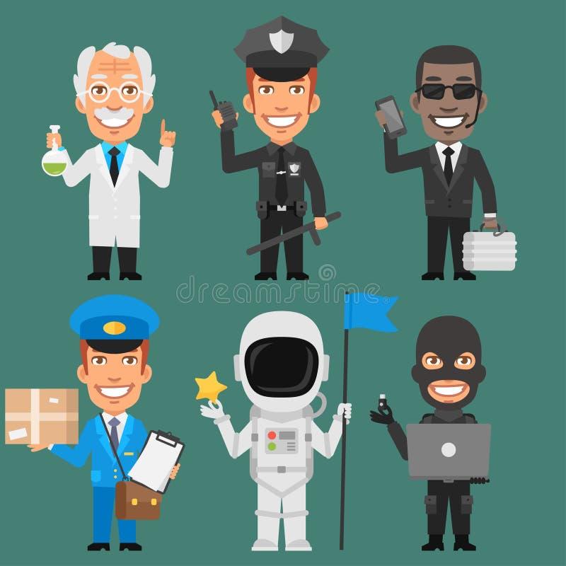 Charakterów zawodów Różna część 8 ilustracji