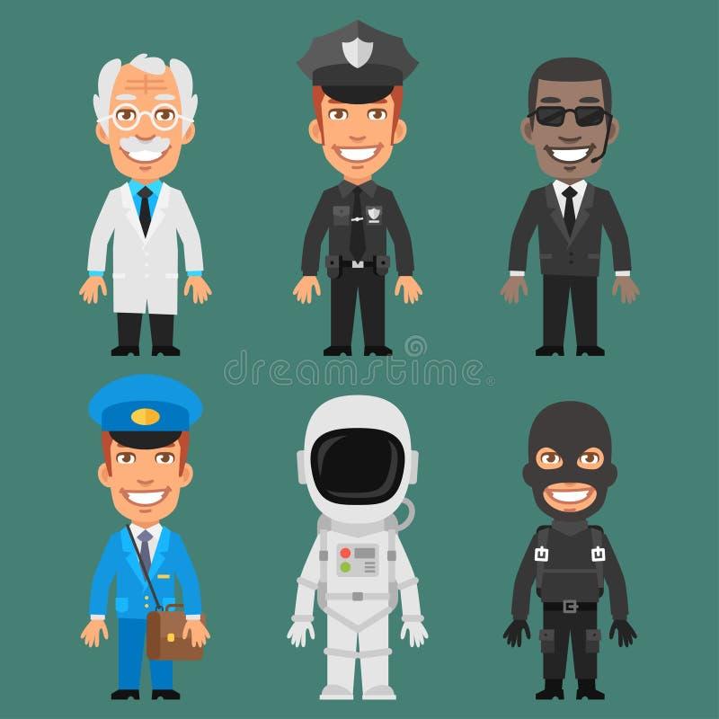Charakterów zawodów Różna część 6 ilustracji