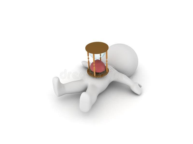 Download Charakter 3D ` S Zeit Ist Oben Stock Abbildung - Illustration von metapher, momente: 96928910