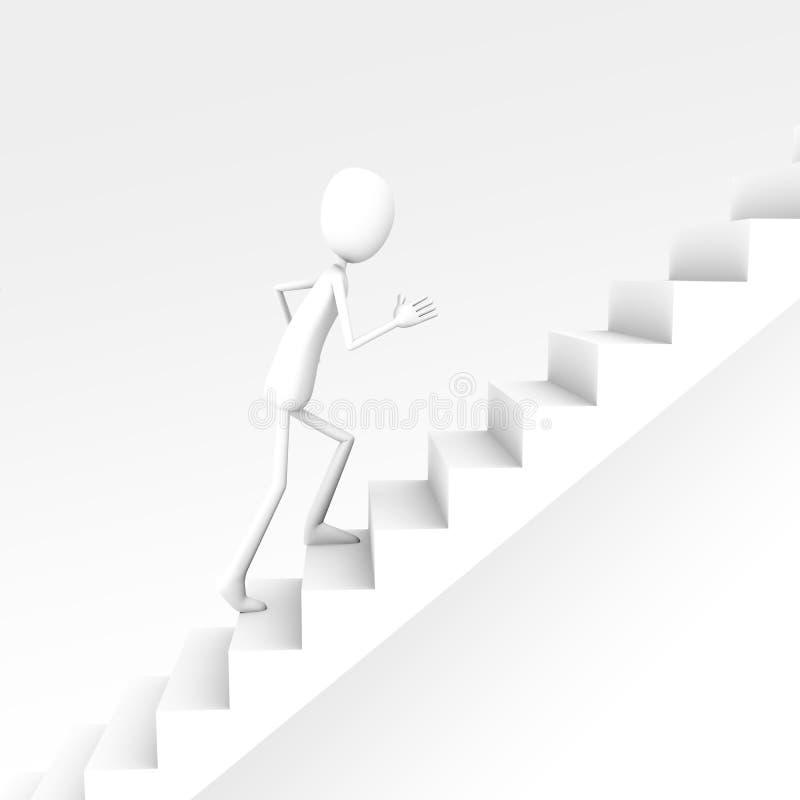 Charakter des weißen Mannes 3D lizenzfreie abbildung