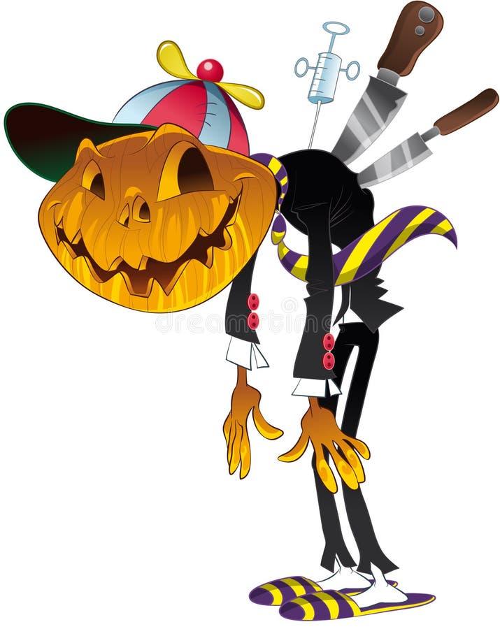 charakter Halloween royalty ilustracja