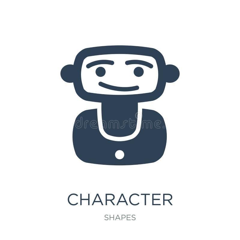 charakter ikona w modnym projekta stylu charakter ikona odizolowywająca na białym tle charakter wektorowej ikony prosty i nowożyt ilustracja wektor