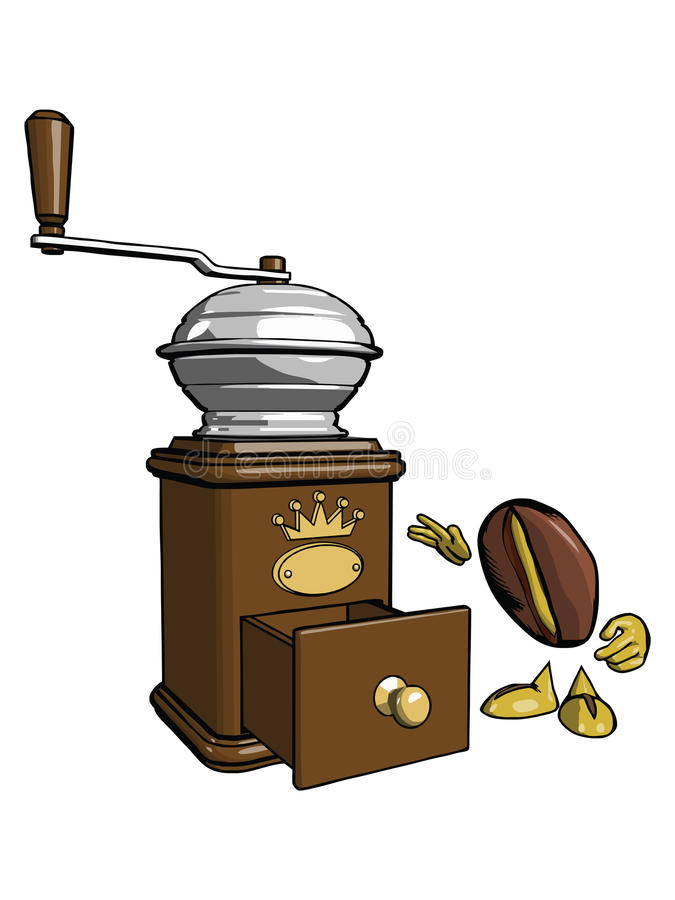 Charakter - kawowa fasola 2 royalty ilustracja