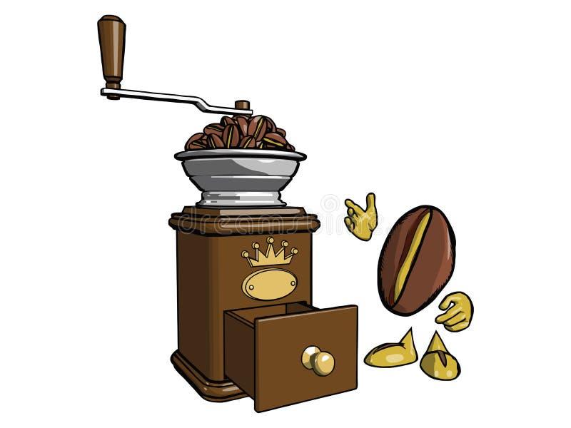 Charakter - kawowa fasola 3 ilustracji