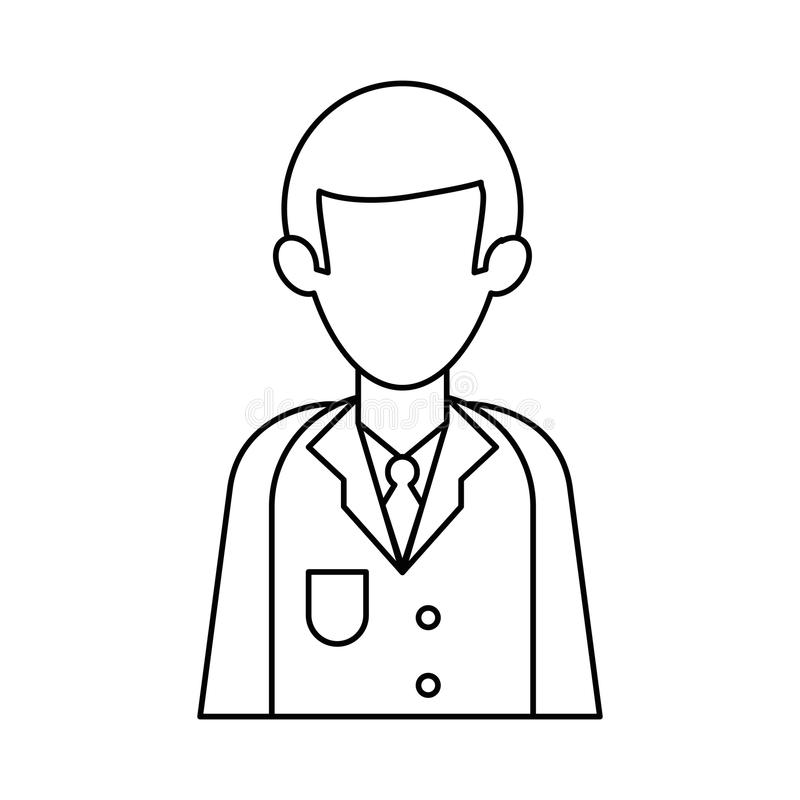 Charakter lekarki munduru zdrowie kontur ilustracji