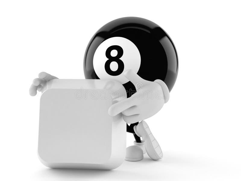 Charakter mit acht Bällen mit leerer Taste lizenzfreie abbildung
