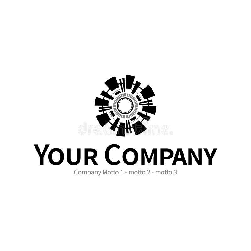 Charakter oznakuje logo nowożytny projekt obraz royalty free