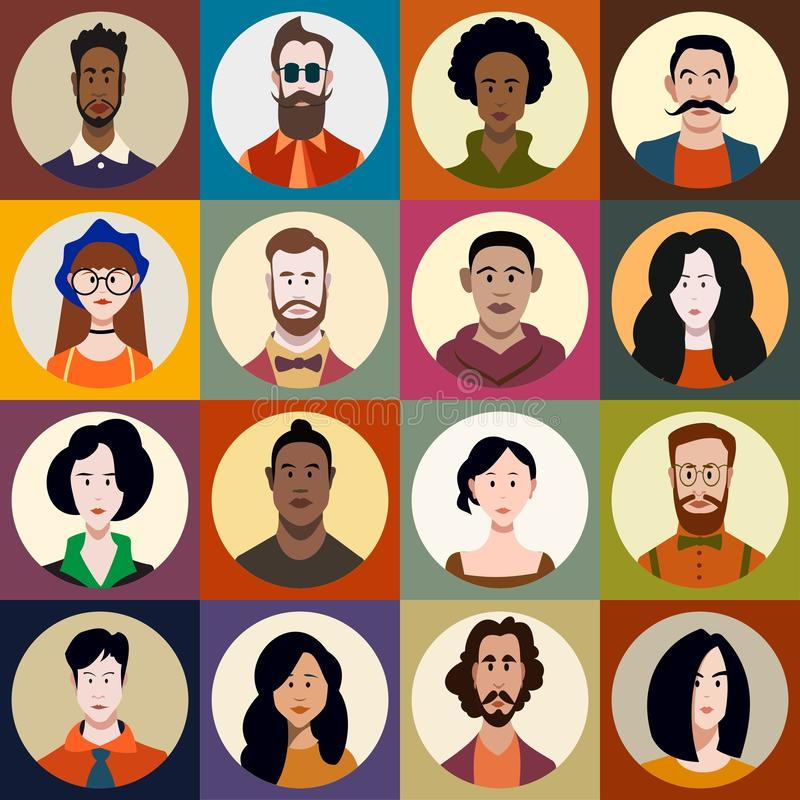 Charakter - set ludzie ilustracja wektor