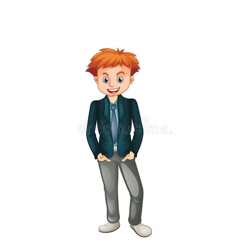 Charaktermannarbeitskraft-Vektor ilustration lizenzfreie abbildung