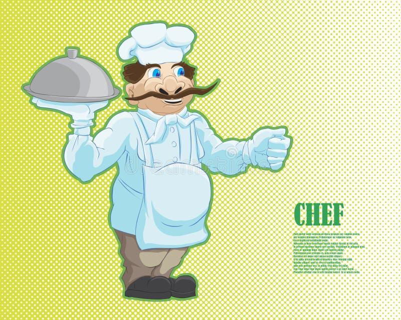 Charakteru kucharz w kreskówka stylu royalty ilustracja