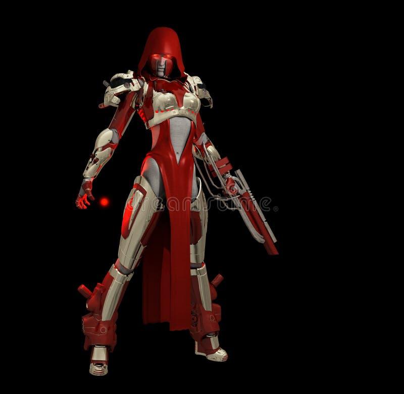charakteru postępowy cyborg royalty ilustracja