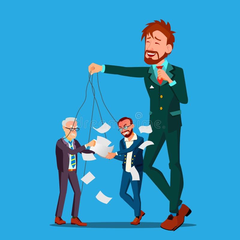 Charakteru szefa śmiechy Przy Pięcioliniowym bełta wektorem royalty ilustracja