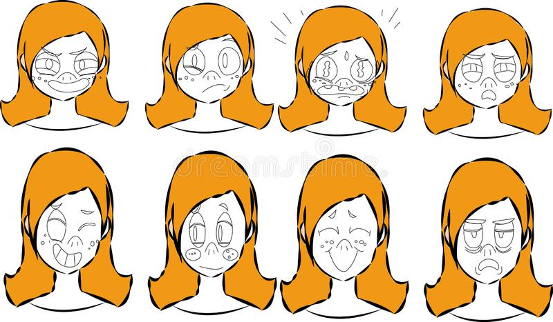 Charakteru tworzenie ustawiający z różnorodnymi widokami, twarzy emocje, wargi synchronizacja, pozuje i gestykuluje Oddzielne czę ilustracji