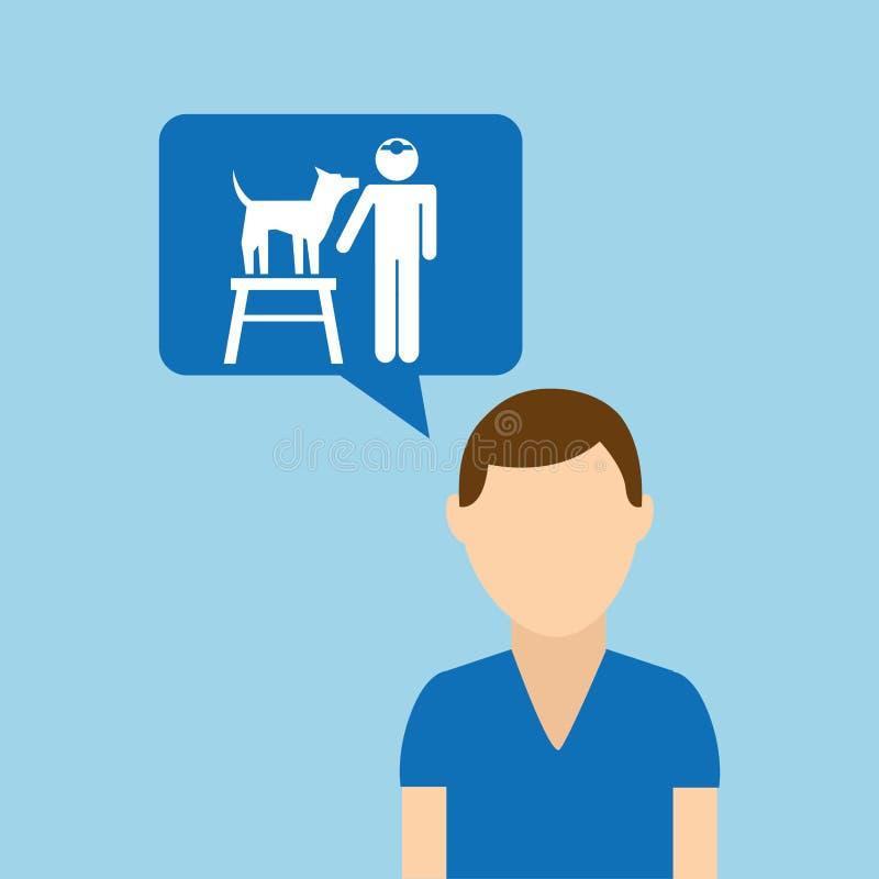 Charakteru zwierzęcia domowego szkolenia psa posłuszeństwo royalty ilustracja