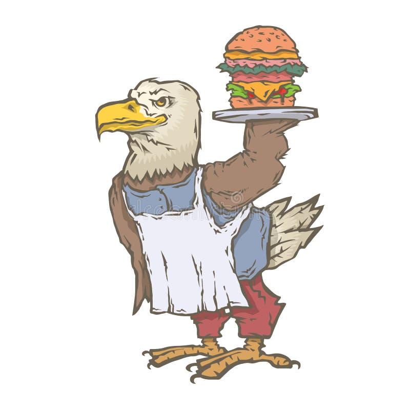 Charakteru zwierzęcia kucharz royalty ilustracja