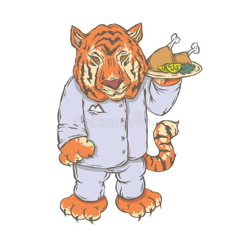Charakteru zwierzęcia kucharz ilustracja wektor