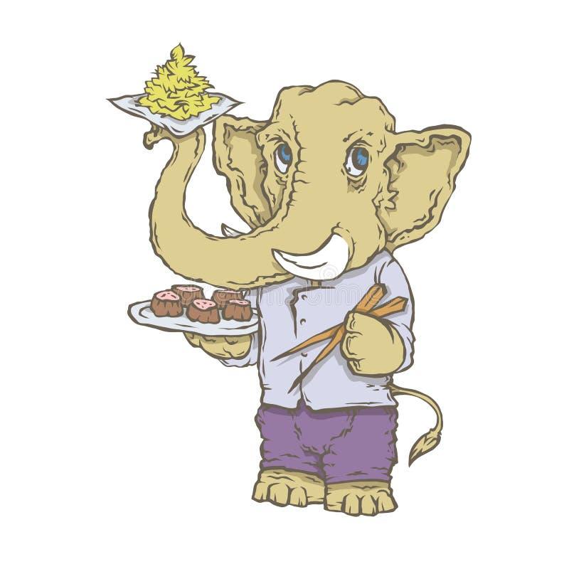 Charakteru zwierzęcia kucharz ilustracji