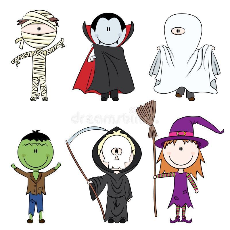 charaktery Halloween royalty ilustracja