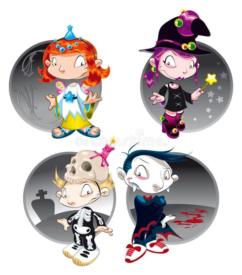 charaktery Halloween ilustracja wektor