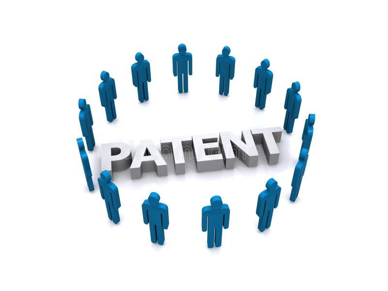 Charaktery wymagający w uzyskiwać patent   ilustracja wektor